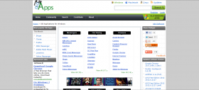 A screen shot of the home page taken on 11 April 2012.