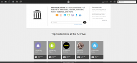 Internet Archive mainpage in 2016-8-10