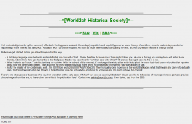 """history of world2ch, 4chan's earliest days, and other happenings of the Internet ca. late 2003"""
