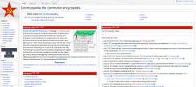 A screenshot of the Communpedia home Page taken on July 19, 2013.