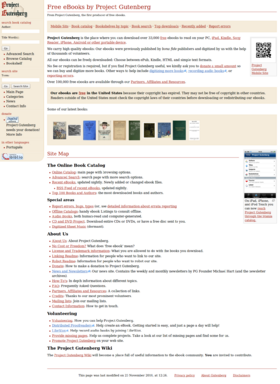 Project Gutenberg in 2011-01-01