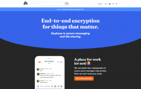 keybase home page as seen on June 3, 2020