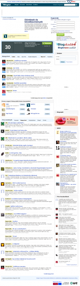 Blogter, a popular Hungarian blogging service